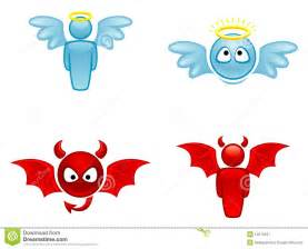 Angel and Devil Clip Art