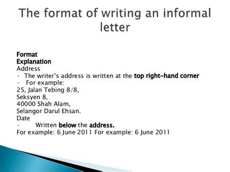 formal  informal letter