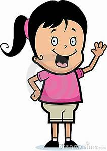 Girl Waving Goodbye Clipart