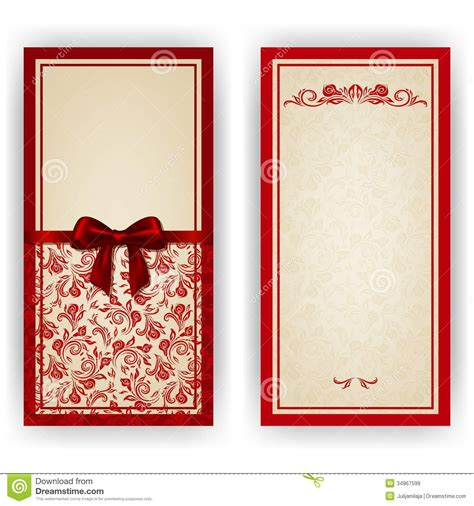 elegant vector template  luxury invitation stock image