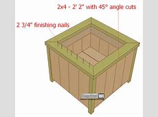 Planter Box Plans Build it in an Hour! Construct101