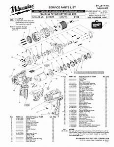 Milwaukee 2410-20 C10b Parts  8 Driver