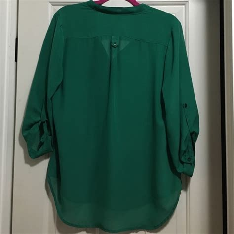 emerald green blouse 55 maurices tops emerald green blouse from