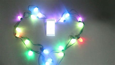 programmable color changing led christmas lights addressable color changing c9 rgb led string ws2811
