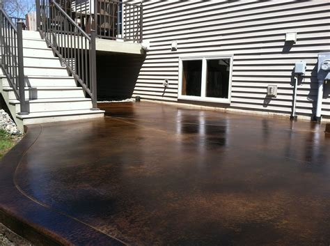 an acid stained patio with distinction directcolors