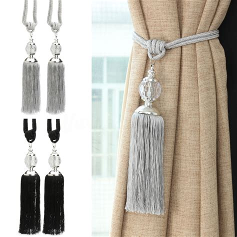 drapery tie backs 2pcs new curtain tiebacks luxury tassel beaded holdbacks