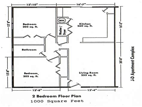 2 Bedroom House Floor Plans 2 Bedroom House Simple Plan