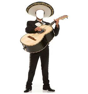 mariachi guitarron spanish mexican standup standee
