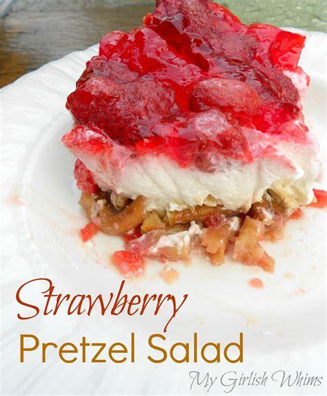 strawberry pretzel salad strawberry pretzel salad recipe my girlish whims