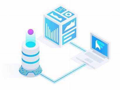Data Animation Graphs Dribbble Isometric Connection Animations