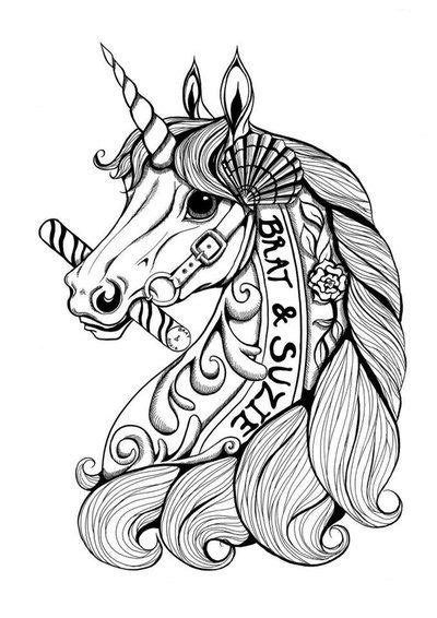 Pin by Heather Ordway on coloring pics | Dibujos, Mandalas pintadas, Unicornio