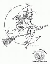 Coloring Witch Popular sketch template