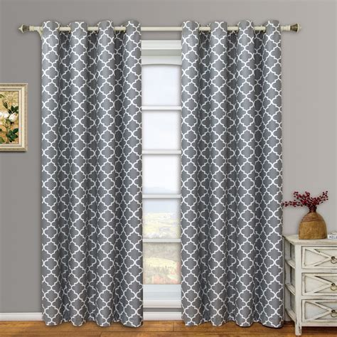 meridian gray grommet room darkening window curtain panels