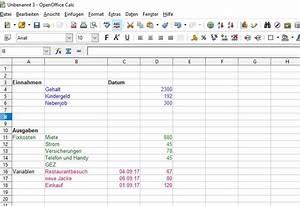 Einnahmen Ausgaben Rechnung : haushaltsplan erstellen und geld sparen ~ Themetempest.com Abrechnung