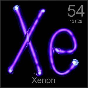 Museum-grade sample, a sample of the element Xenon in the ...