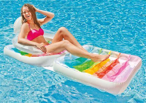 mattress size intex folding lounge chair pool float