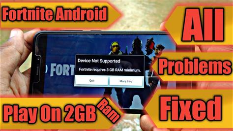 fix fortnite android  device   supported