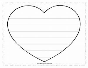 heart writing template writing template With heart shaped writing template