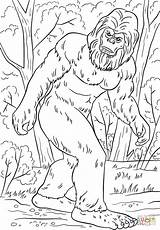 Bigfoot Coloring Pages Yeti Printable Sasquatch Drawing Supercoloring Tremendous Camping Silhouette Crafts Hunter Birthday Fortnite Pattern Clipart Categories Elegant sketch template