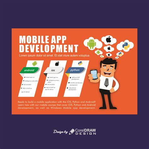 mobile app development promotion poster banner