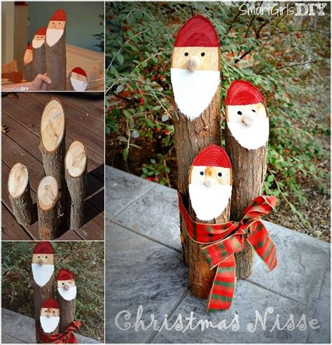 making log christmas decorations