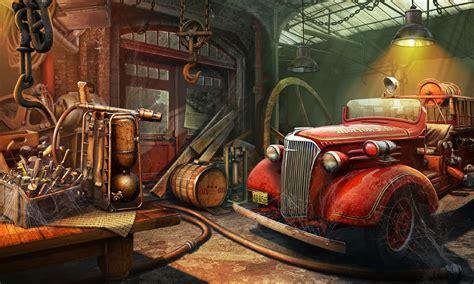 Garage Fire Station Picture (2d, Illustration, Game Art