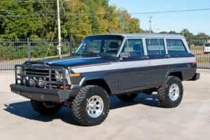 classic jeep wagoneer lifted 1988 jeep grand wagoneer 4x4 5 9l amc 360 v8 lifted 33