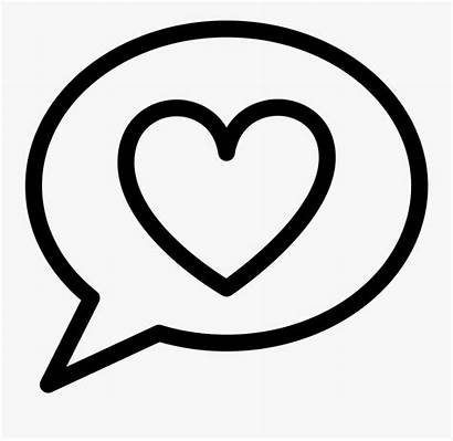 Bubble Heart Thought Bubbles Speech Printable Chat