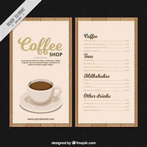 retro coffee menu template vector free download With coffee price list template