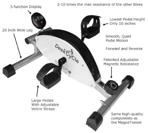 desk cycle weight loss desk exercise bike cubicle decor zone