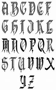 alphabet fonts free old english letters fonts alphabet With letter typography art