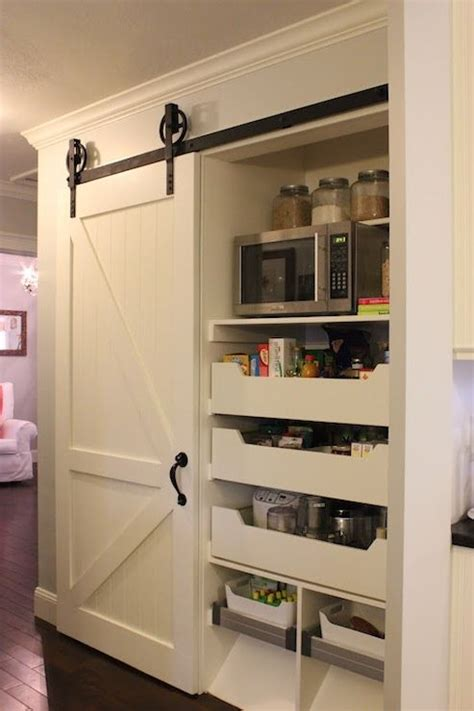 sliding kitchen storage 60 best storage pantry laundry room barn doors images 2319