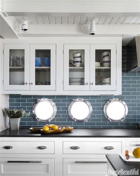 nautical kitchen design home tour tiny nautical cottage with modern style 1053