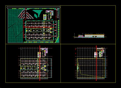 automobile assembly plant  autocad cad