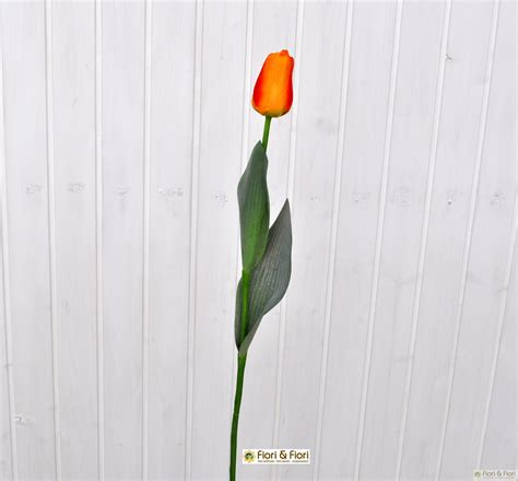 tulipano fiore fiore artificiale tulipano arancio per composizioni floreali