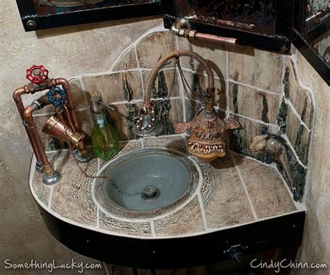 shower bathroom ideas crafted steunk sculpted tile sink and vanity by