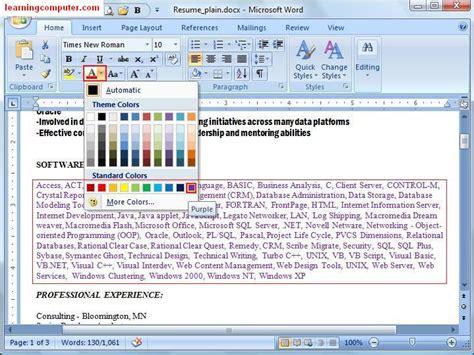 learn microsoft office word  home tab  computer