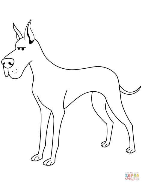 funny great dane coloring page  printable coloring pages