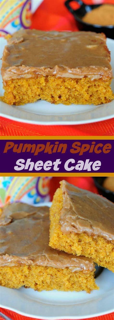 pumpkin spice sheet cake   seconds