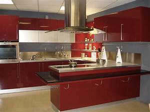 cuisine moderne rouge wwwimgkidcom the image kid has it With conforama cuisine plan de travail