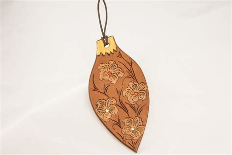 cuero christmas leather christmas ornament christmas flowers by dalamor on