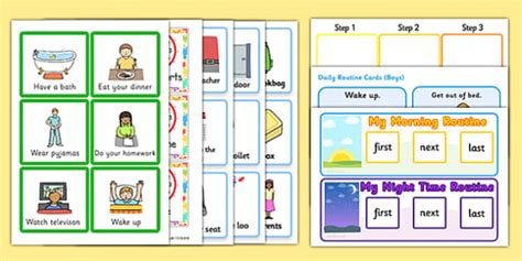 sen visual timetable resource pack visual timetable pack