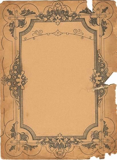Paper Parchment Background Frames Texture Antique Ornate