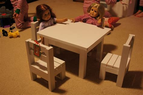 18 doll furniture table and chairs ana white claras table and 4 stackable chairs sized for