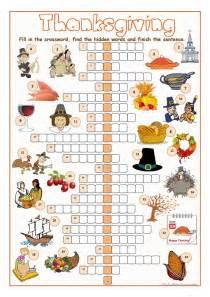 thanksgiving crossword puzzle worksheet free esl printable worksheets made by teachers