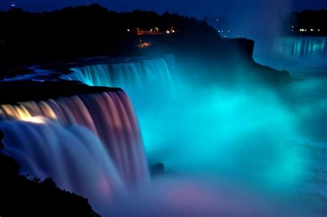 niagara falls light show the web info photography