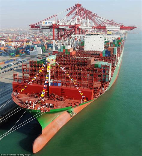 Biggest Pirate Ships In The World by World S Largest Container Ships Sets Off On Maiden Voyage