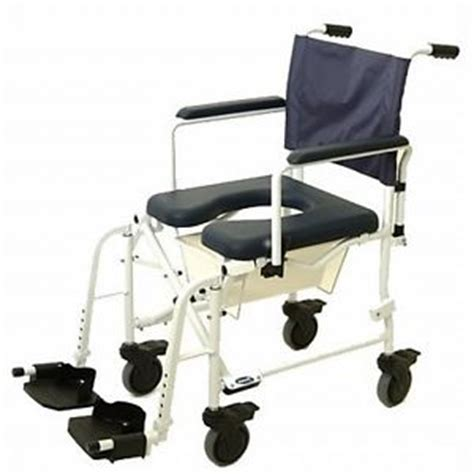 3 in 1 transport shower bedside commode folding wheelchair