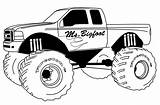 Truck Monster Pages Coloring Printable sketch template
