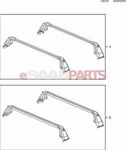 12828243  Saab Roof Rack - Aluminum Bars  9-5ng